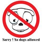 Aucun bouton de signe de chien illustration libre de droits
