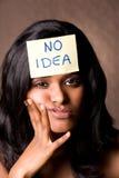 Aucun brun d'idée Images libres de droits