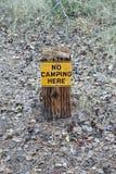 Aucun camper ici signe images libres de droits
