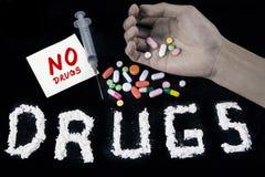 Aucun concept de drogues Photo stock