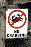 Aucun crabbing Images stock