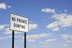 Aucun dumping privé Photo stock