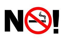 aucun fumage de signe illustration libre de droits