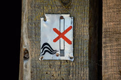 aucun fumage de signe image stock