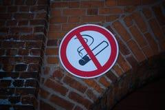 aucun fumage de signe Photo stock