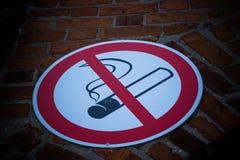aucun fumage de signe Photographie stock