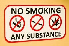 aucun fumage de signe Photo libre de droits
