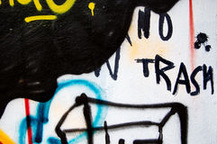 Aucun graffiti de détritus Photos stock