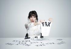 Aucun impôt ! photographie stock