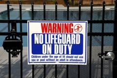 Aucun maître nageur Photographie stock libre de droits