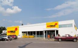 Aucun magasin de vrilles dans le Canada Photographie stock