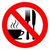 Aucun mangez et buvez illustration de vecteur