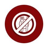 aucun mangez, icône interdite de signe dans le style d'insigne Un de l'icône de collection de baisse peut être employé pour UI, U illustration libre de droits