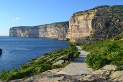 Aucun meilleur endroit pour détendre Gozo à Malte images stock