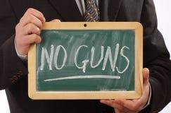 Aucun concept d'armes à feu Image libre de droits