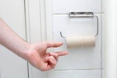 Aucun papier hygiénique Photographie stock libre de droits