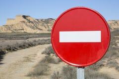 Aucun parc de Bardenas Reales de connexion d'entrée, la Navarre Images libres de droits