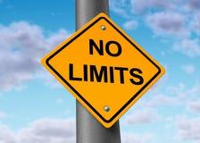 Aucun positif potentiel sans limites sans fin de limites Image libre de droits