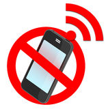 Aucun poteau de signalisation de smartphone Image stock