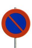 Aucun poteau de signalisation de stationnement Photographie stock