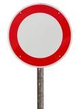 Aucun poteau de signalisation de véhicules photo libre de droits
