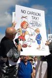 Aucun rassemblement d'impôts de carbone Photographie stock libre de droits