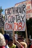 Aucun rassemblement d'impôts de carbone, 23 mars, Photographie stock libre de droits