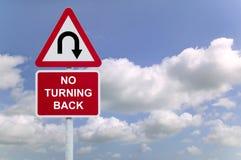 Aucun revenir ne signent dedans le ciel Photographie stock libre de droits