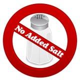 Aucun sel ajouté Photo libre de droits