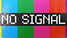 Aucun signal Images stock