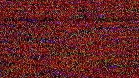 Aucun signal, bruit de charge statique de télévision banque de vidéos