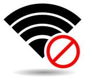 Aucun signal ou mauvais symbole d'antenne illustration stock