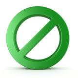 Aucun signe Image libre de droits
