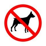 Aucun signe animal Signe interdit pour aucun chiens Photos libres de droits