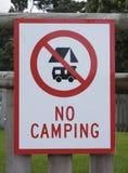 Aucun signe campant Photo libre de droits