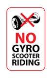 Aucun signe d'équitation de gyroscooter Illustration de vecteur Photo stock