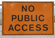 Aucun signe d'accès public Photos stock