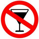 Aucun signe d'alcool Photo stock