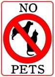 aucun signe d'animaux familiers Photographie stock libre de droits