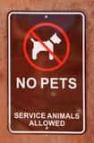 Aucun signe d'animaux familiers Image libre de droits