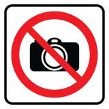 Aucun signe d'appareil-photo illustration de vecteur