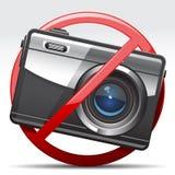 Aucun signe d'appareil-photo Images stock