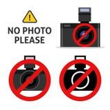 Aucun signe d'appareil-photo de photo Photo libre de droits