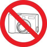 Aucun signe d'appareil-photo de photo Photo stock