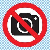 Aucun signe d'appareil-photo de photo Aucun signe de photographie Photos stock