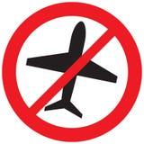 Aucun signe d'avion Photographie stock