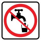 Aucun signe d'eau potable  illustration stock
