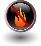 Aucun signe d'incendie Images stock