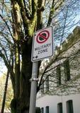 Aucun signe de arrêt de zone militaire Photo libre de droits