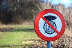 Aucun signe de barbecue images libres de droits